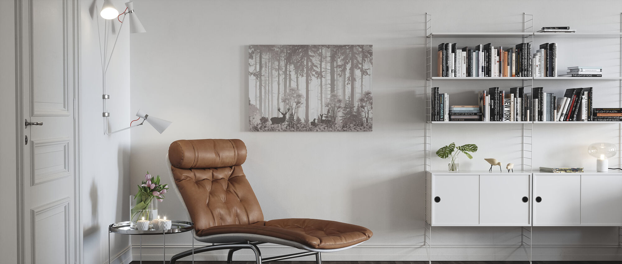 Forest Silhouettes - Canvas print - Living Room