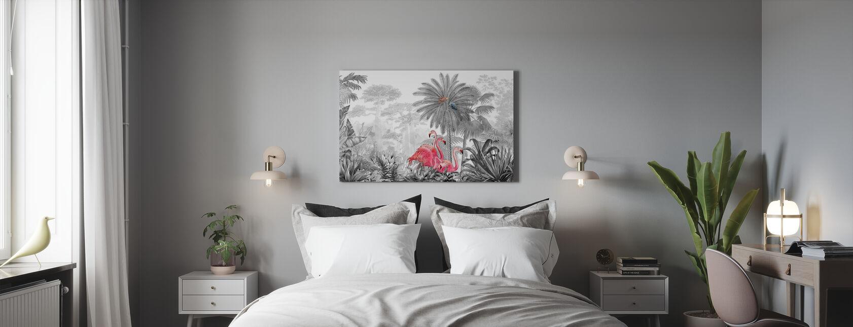 Tropical Flamingos - Canvas print - Bedroom