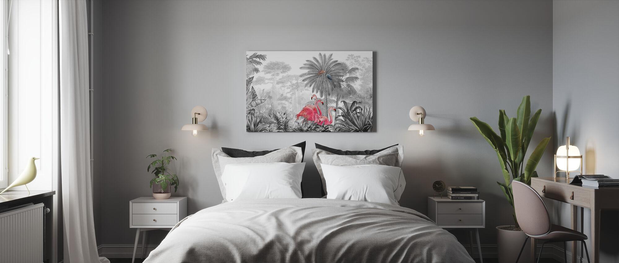 Tropische Flamingo's - Canvas print - Slaapkamer