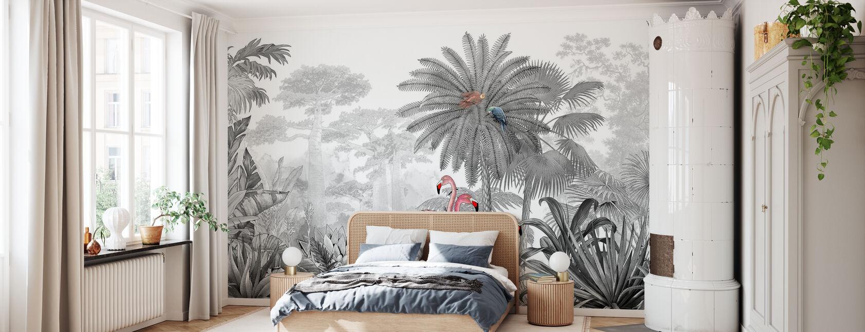 Tropical Flamingos - Wallpaper - Bedroom