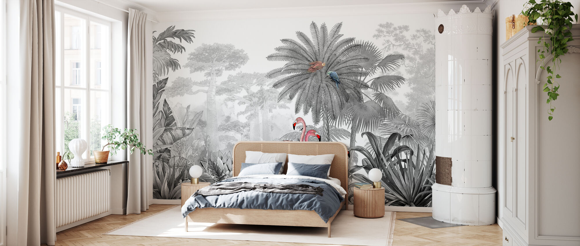 Tropical Flamingos - Wallpaper - Bedroom