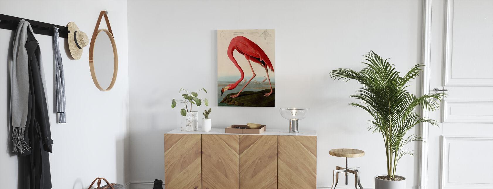 Amerikaanse Flamingo - John James Audubon - Canvas print - Gang