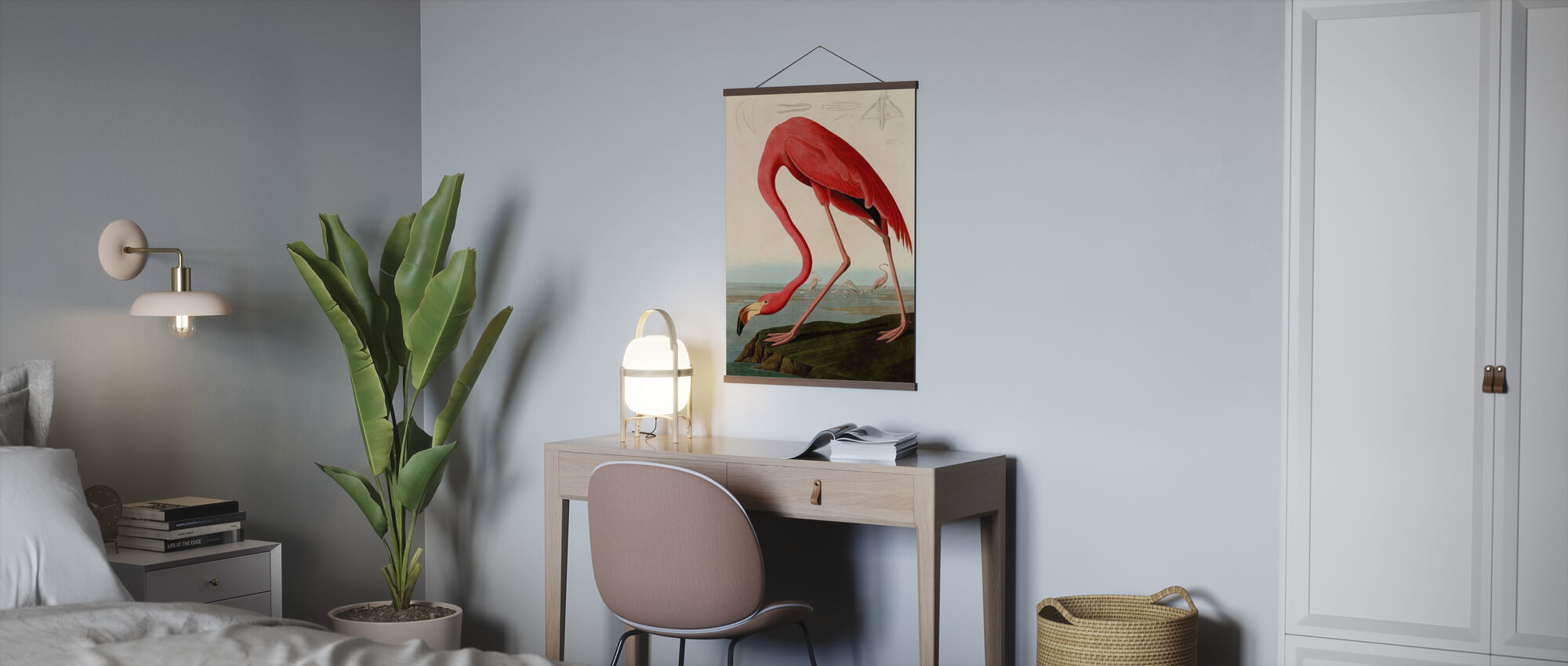 American Flamingo - John James Audubon - Poster - Office