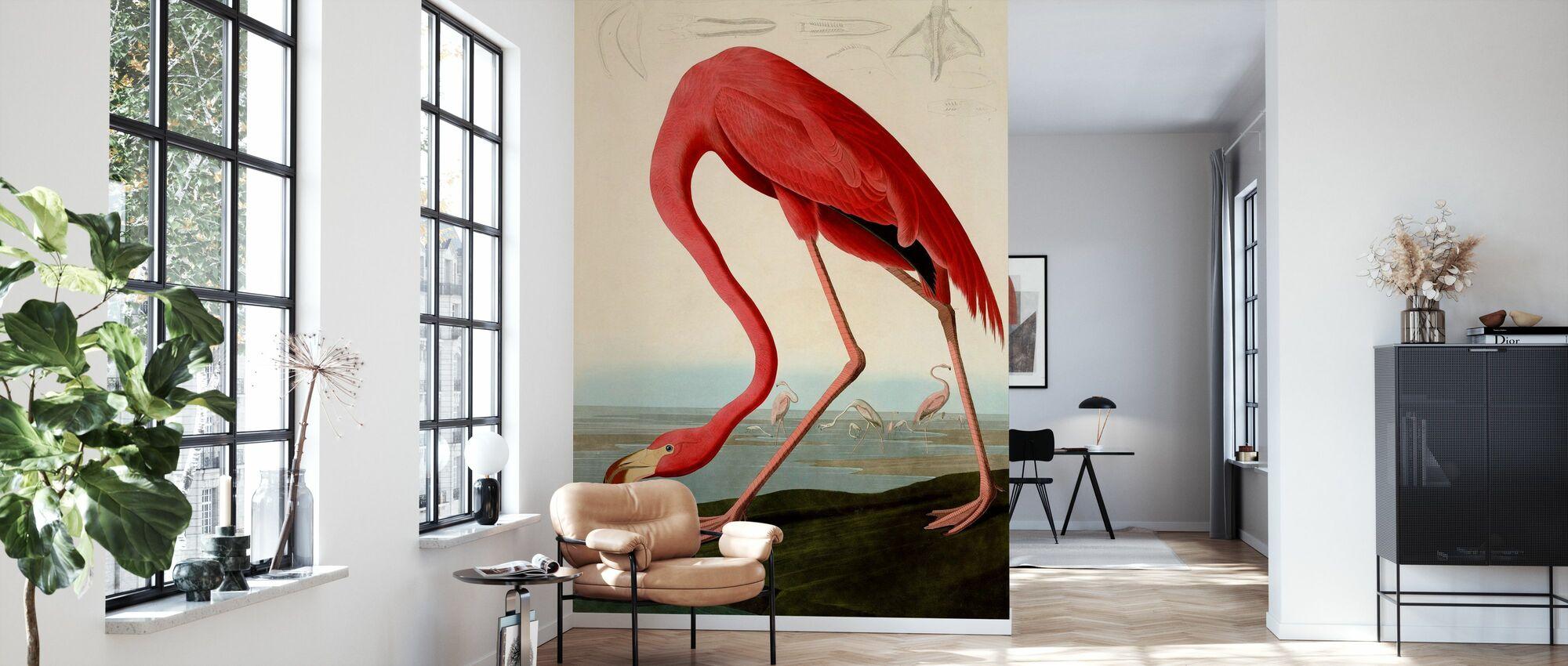 Amerikanske Flamingo - John James Audubon - Tapet - Stue