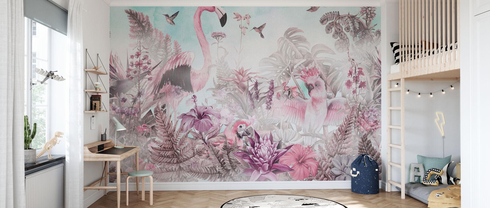 Giganten Flamingo - rosa - Tapet - Barnerom