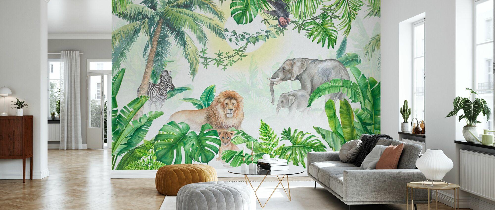 Jungle Dieren - Behang - Woonkamer