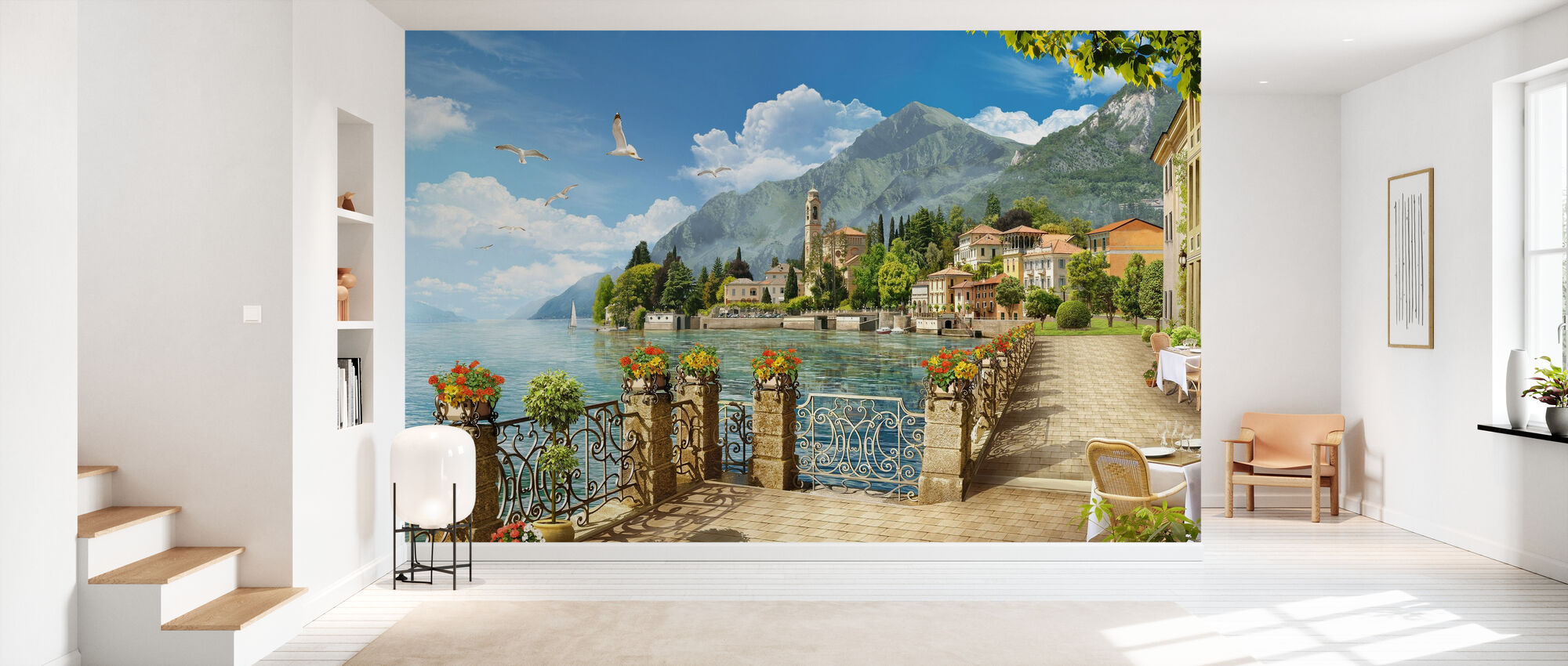 Lake Como - Italy - Wallpaper - Hallway