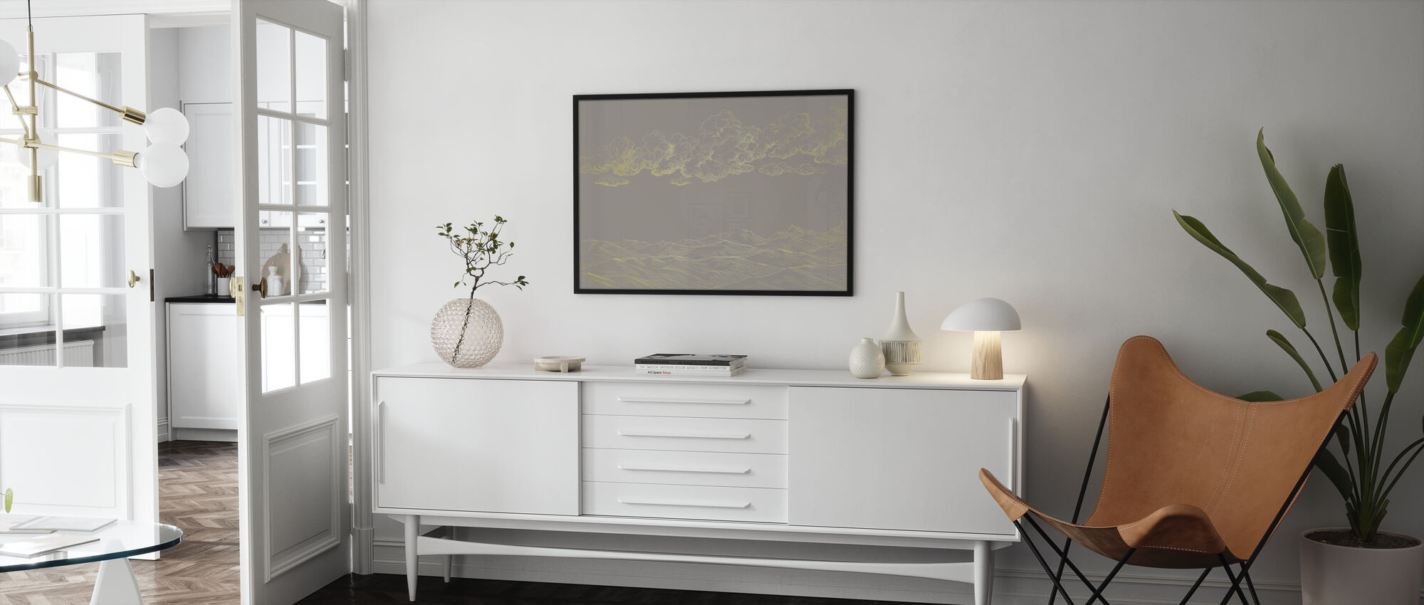 Between Clouds and Earth - Beige - Poster - Living Room