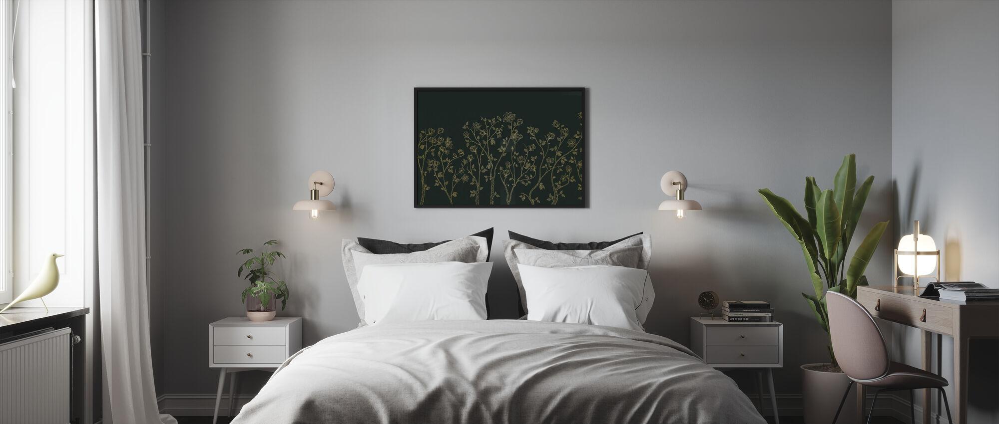 Crescent Vegetative - Green - Poster - Bedroom