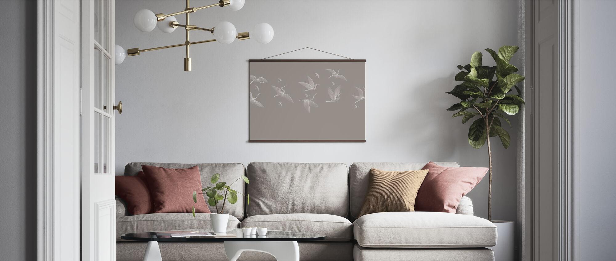 Where We Land - Beige - Poster - Living Room