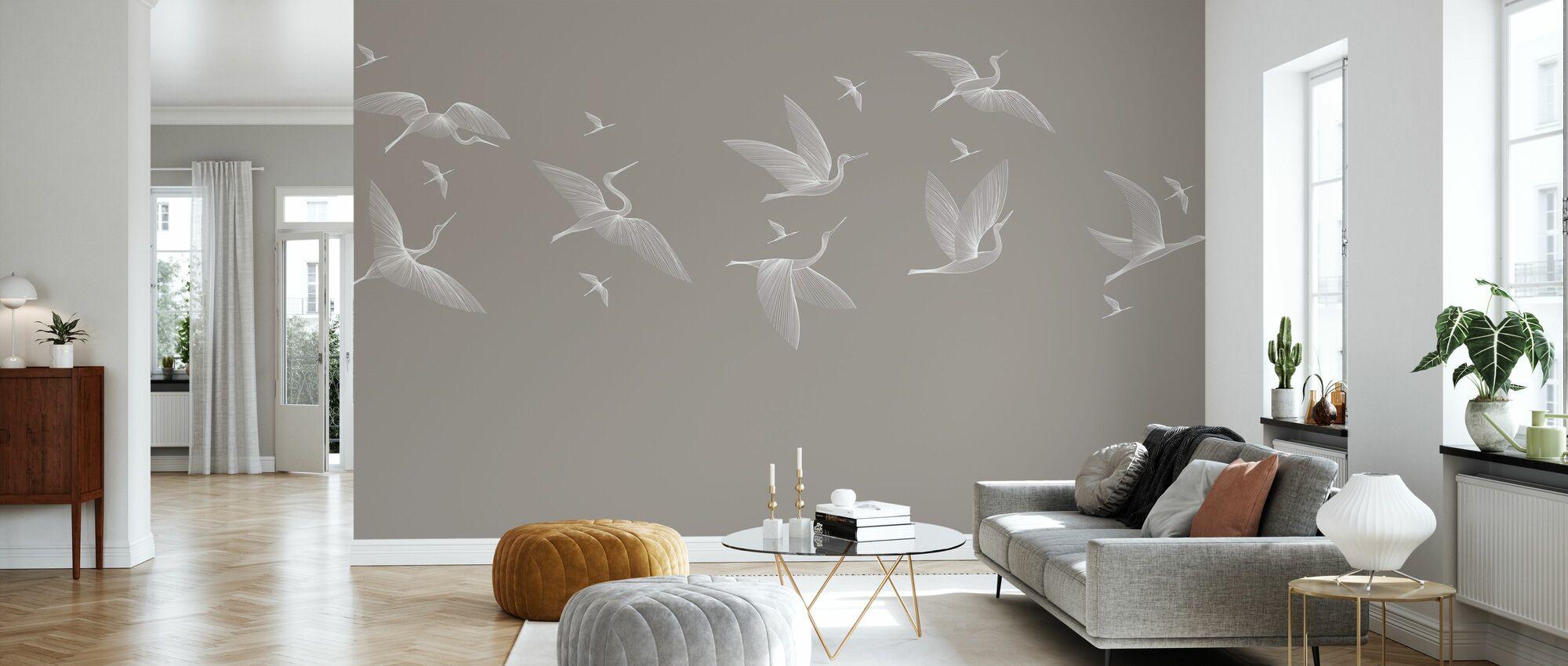 Where We Land - Beige - Wallpaper - Living Room