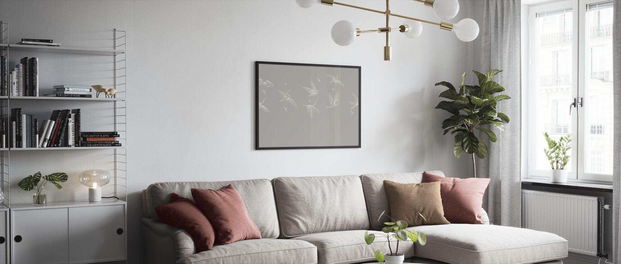 Where We Land - Soft Beige - Poster - Living Room