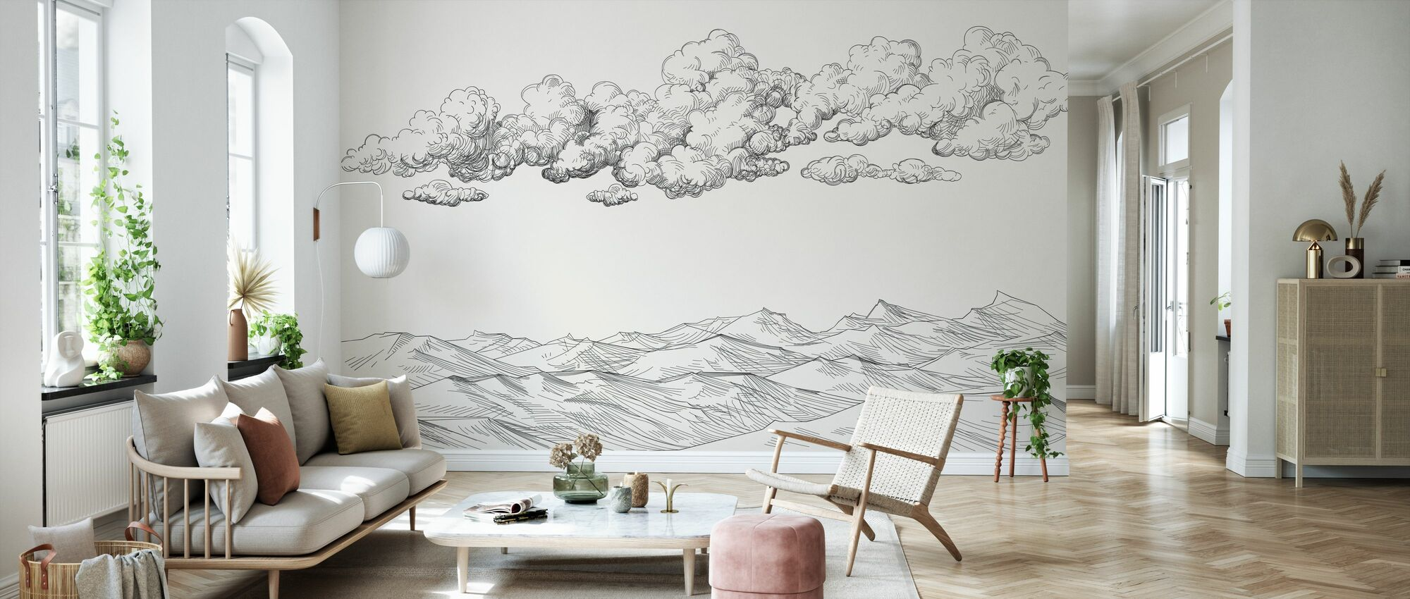 Between Clouds and Earth - Bright - Wallpaper - Living Room
