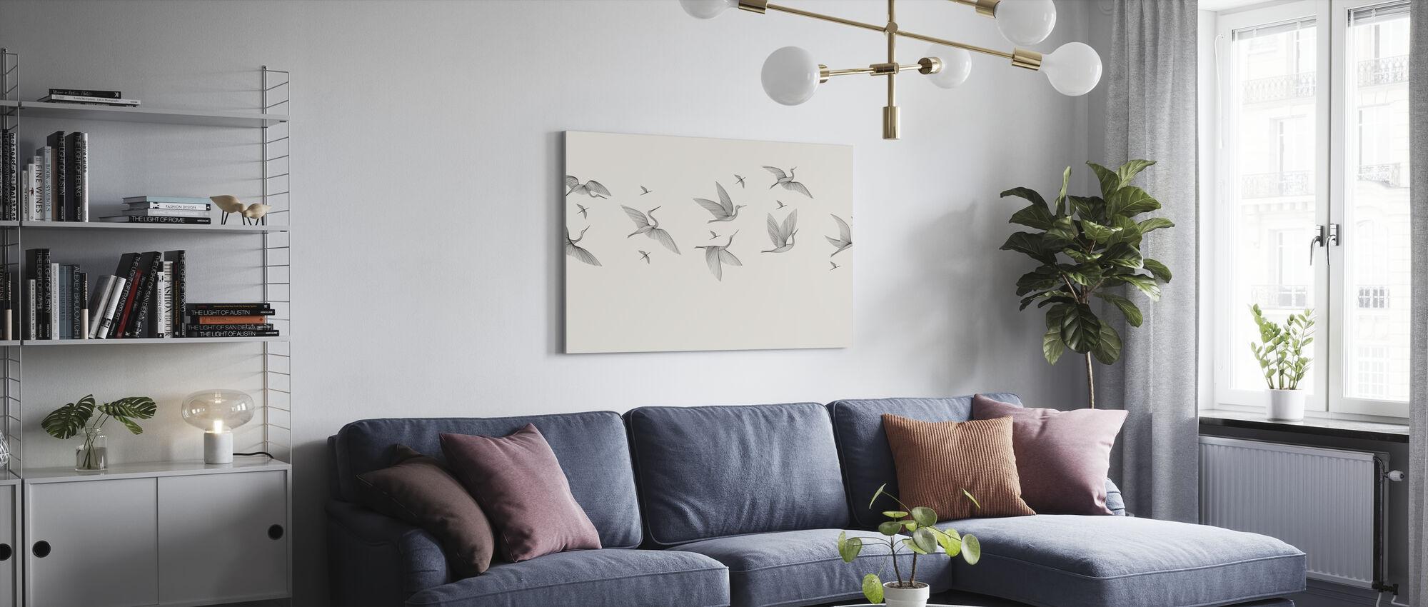 Where We Land - Bright - Canvas print - Living Room