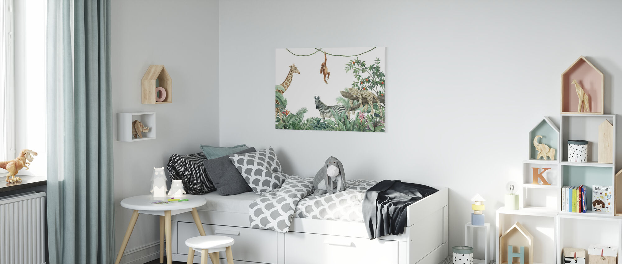 Jungle Vrienden - Canvas print - Kinderkamer