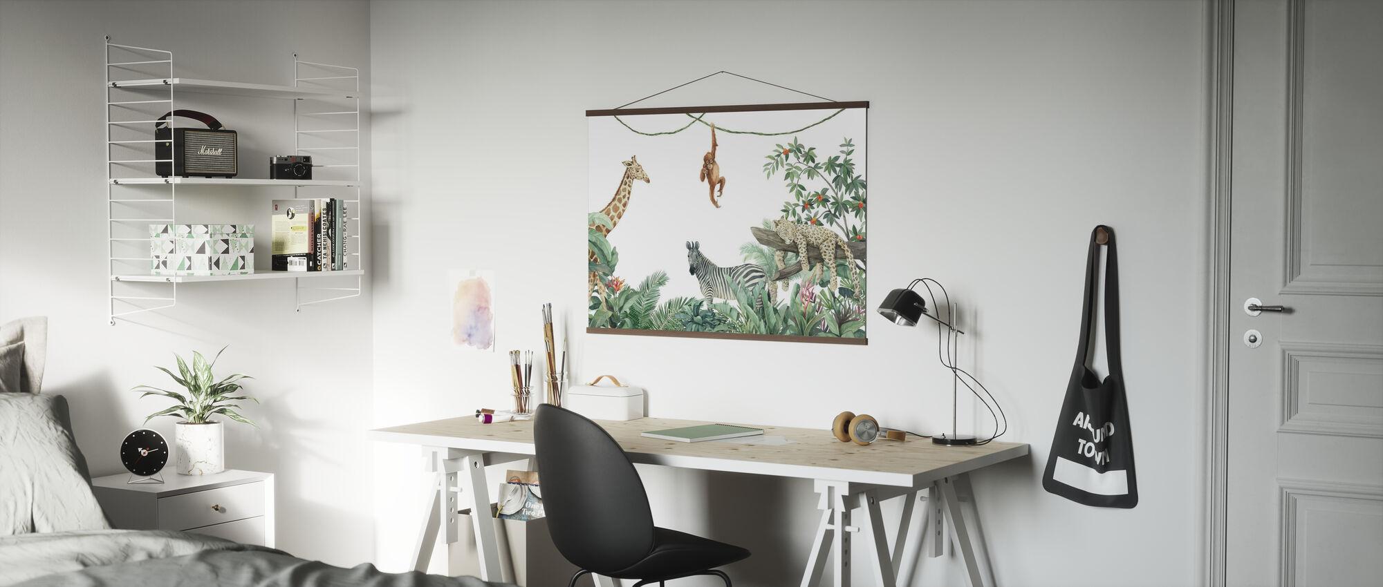 Dschungel Freunde - Poster - Büro