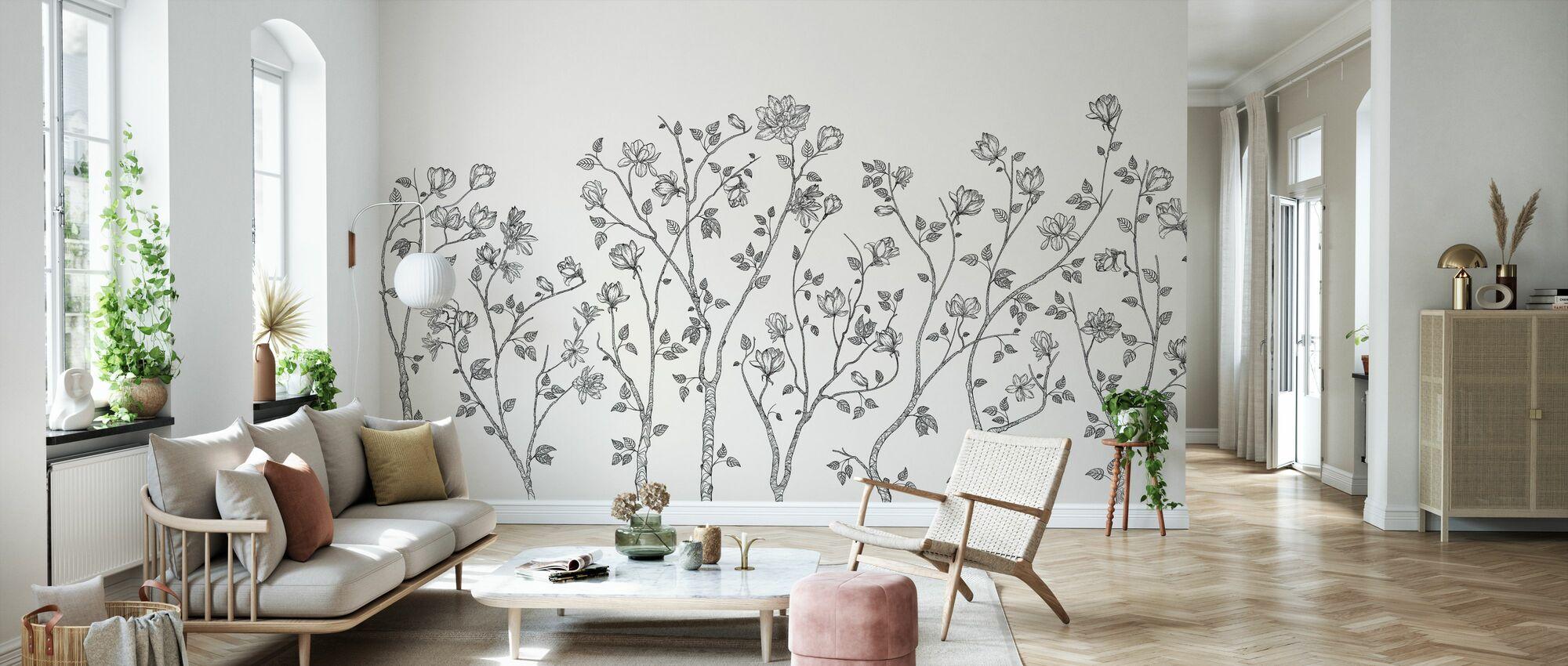 Crescent Vegetative - Bright - Wallpaper - Living Room