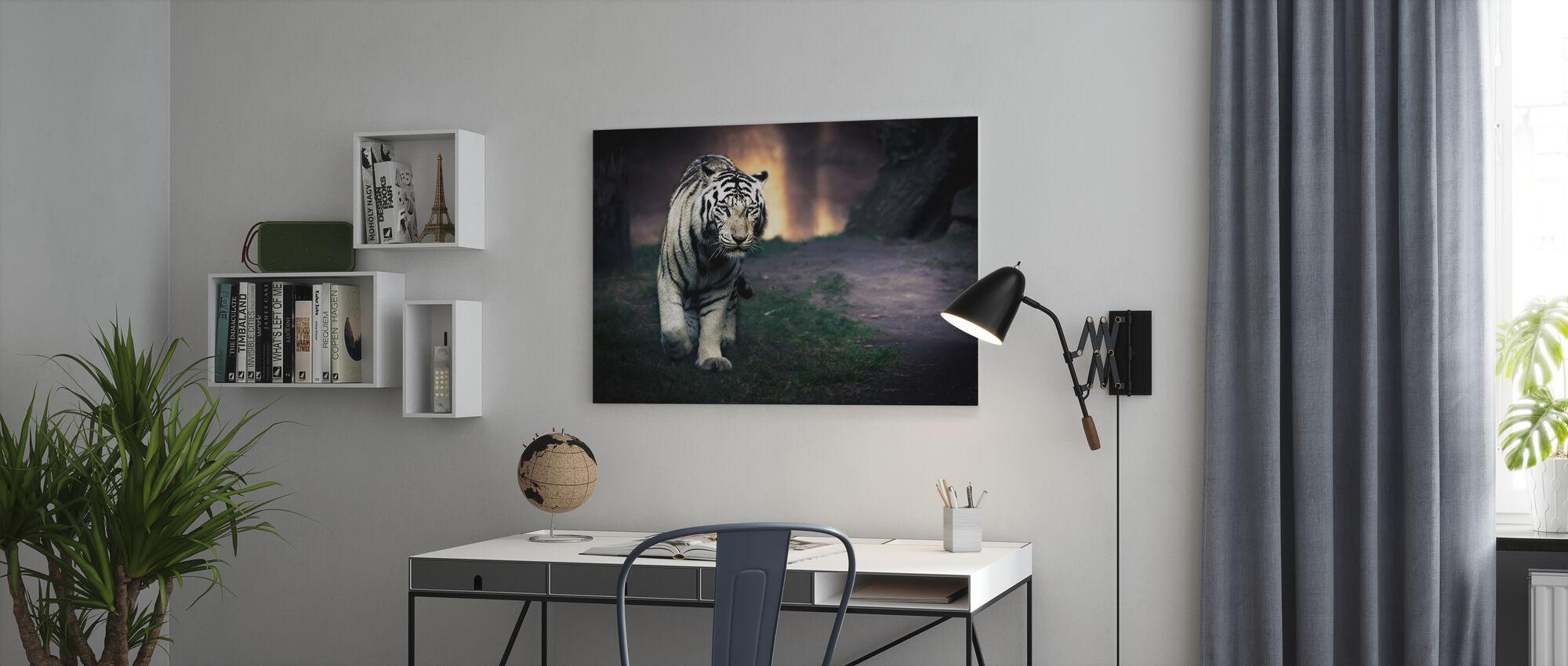 Witte Walker - Canvas print - Kantoor