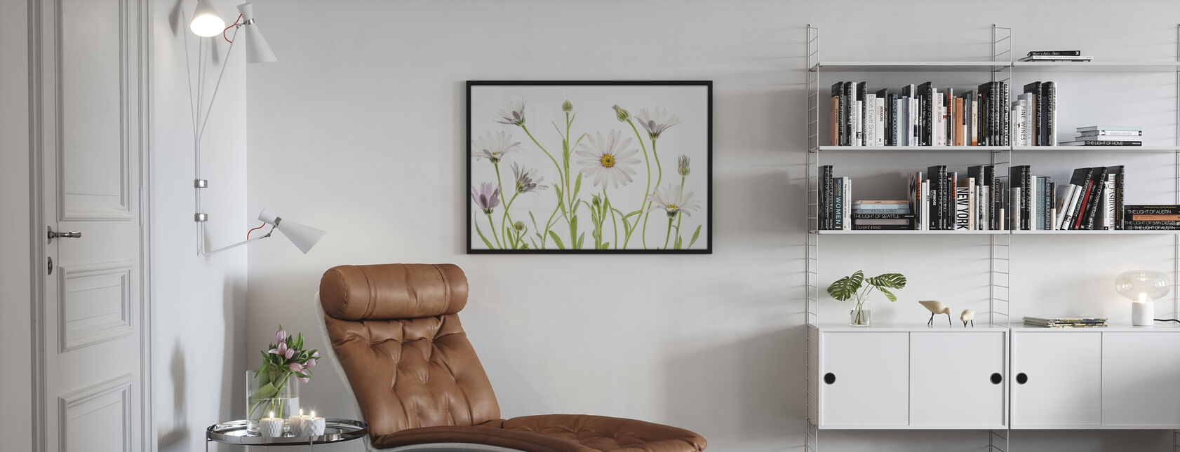 Cape Daisies - Framed print - Living Room