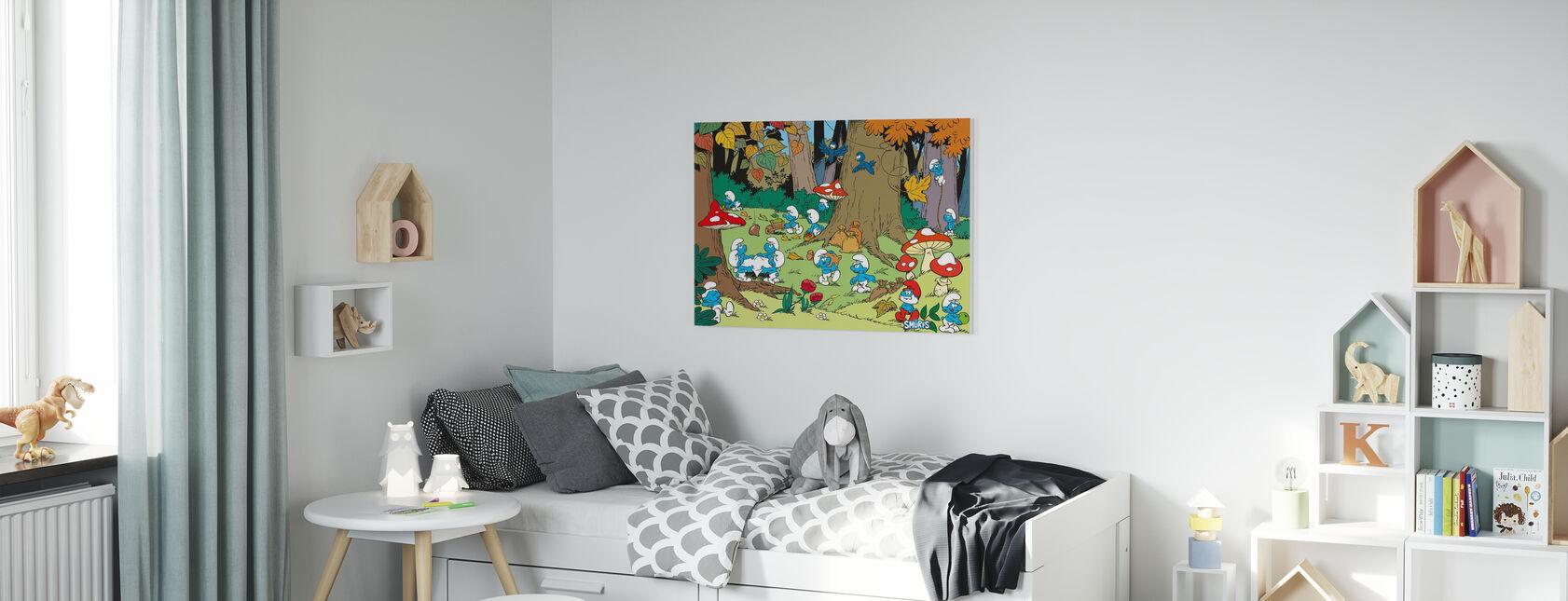 Smurfs - Autumn - Canvas print - Kids Room