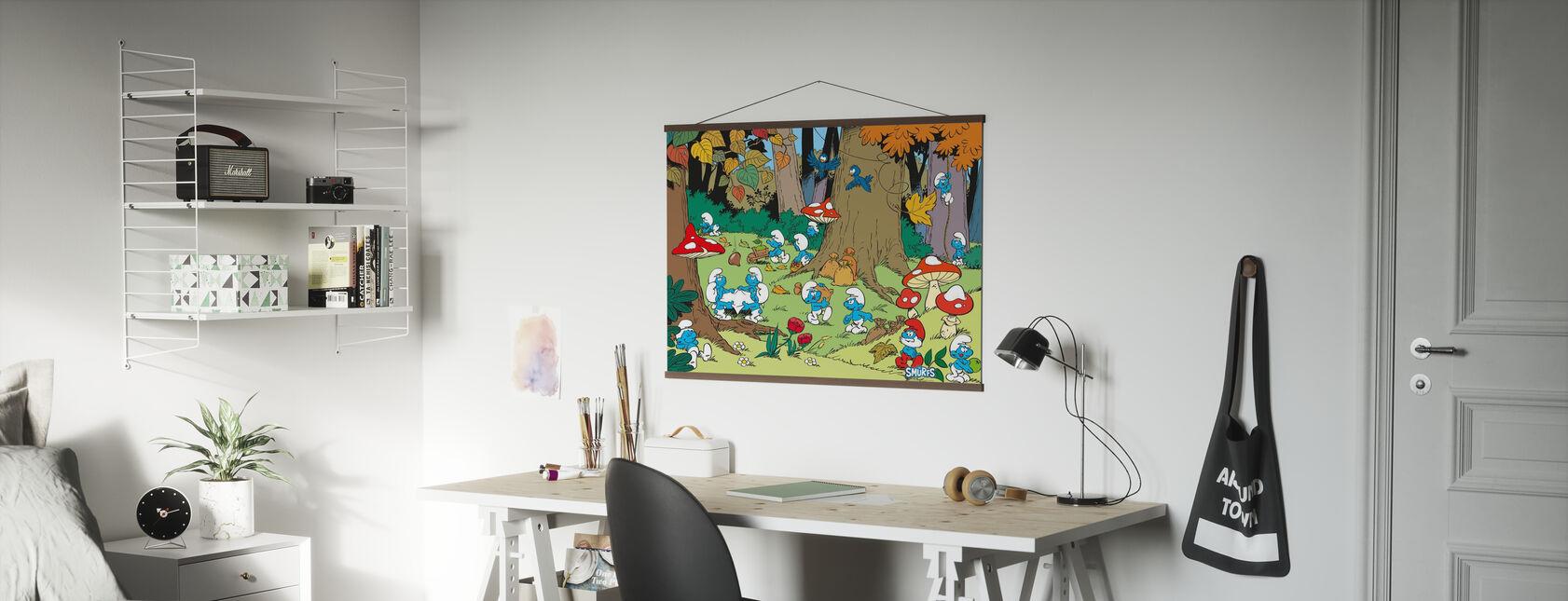 Puffi - Autunno - Poster - Uffici