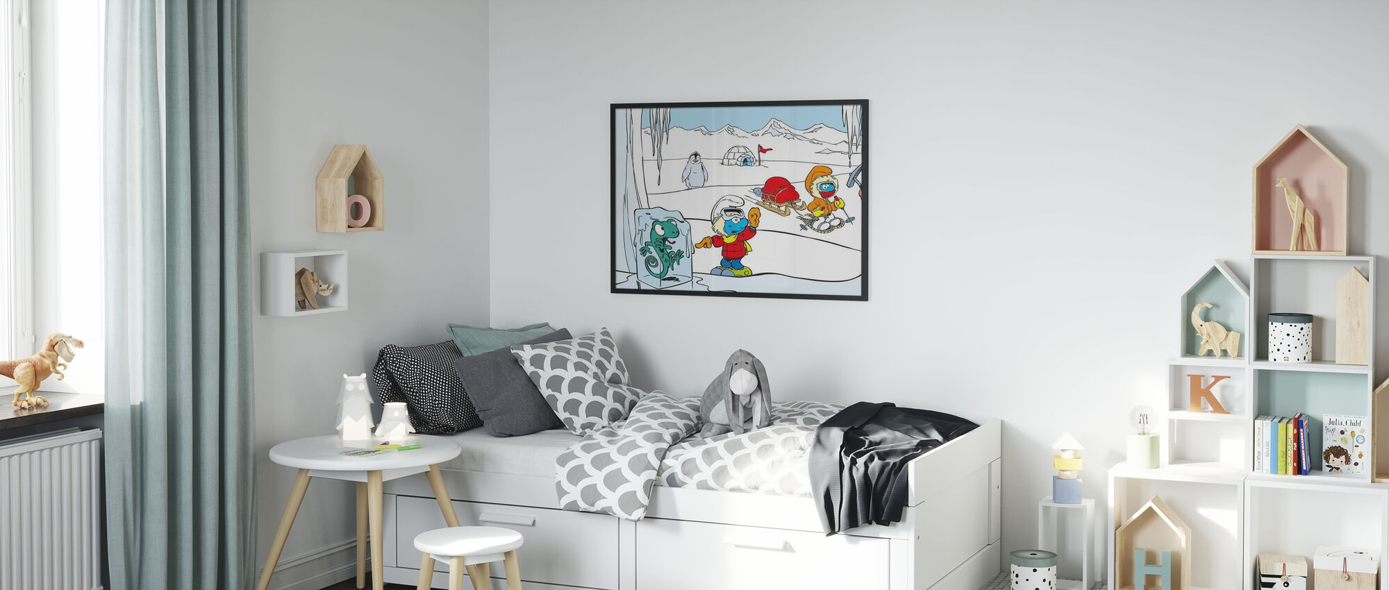 Smurfs - Iglo - Poster - Kids Room