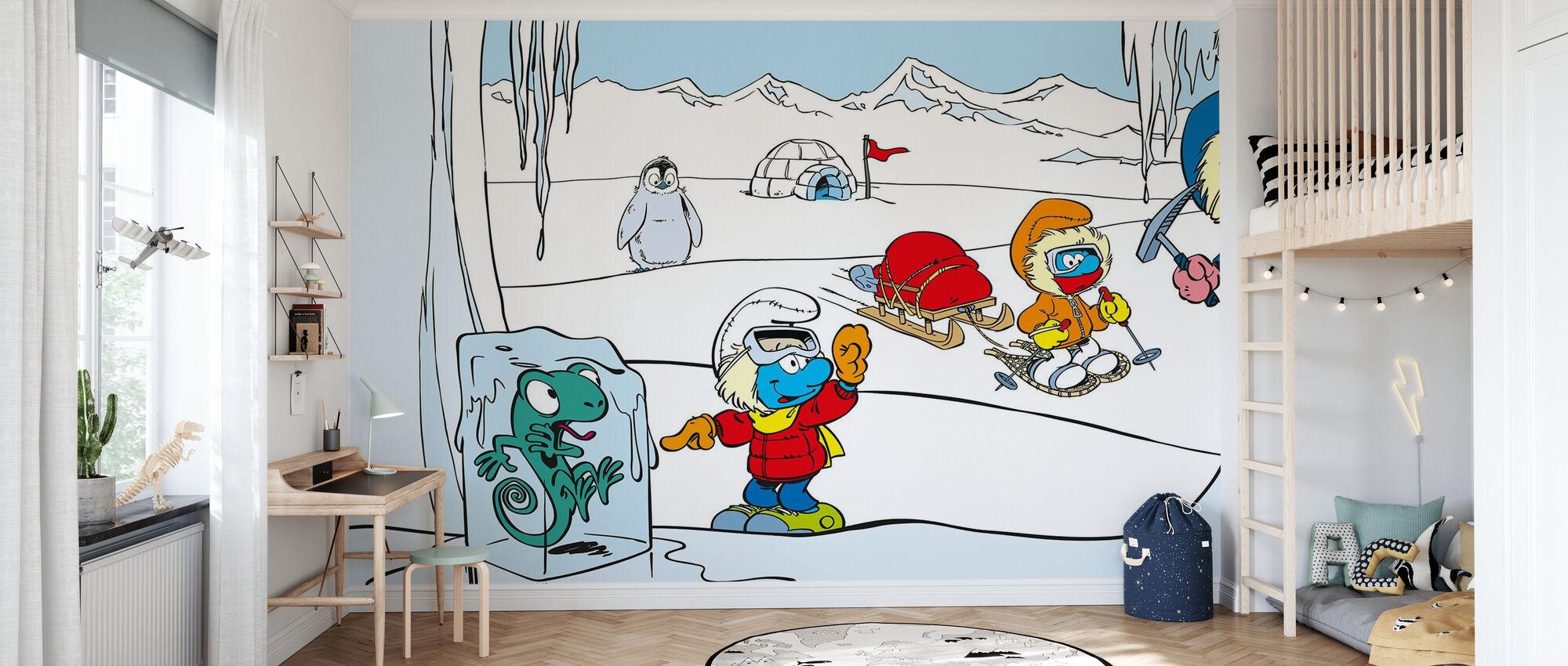Smurfs - Iglo - Wallpaper - Kids Room