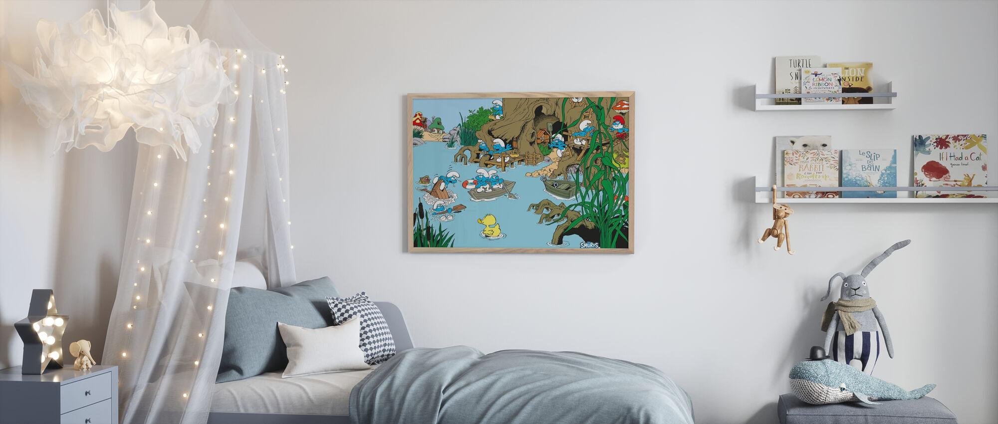 Smurfs - Summer - Poster - Kids Room