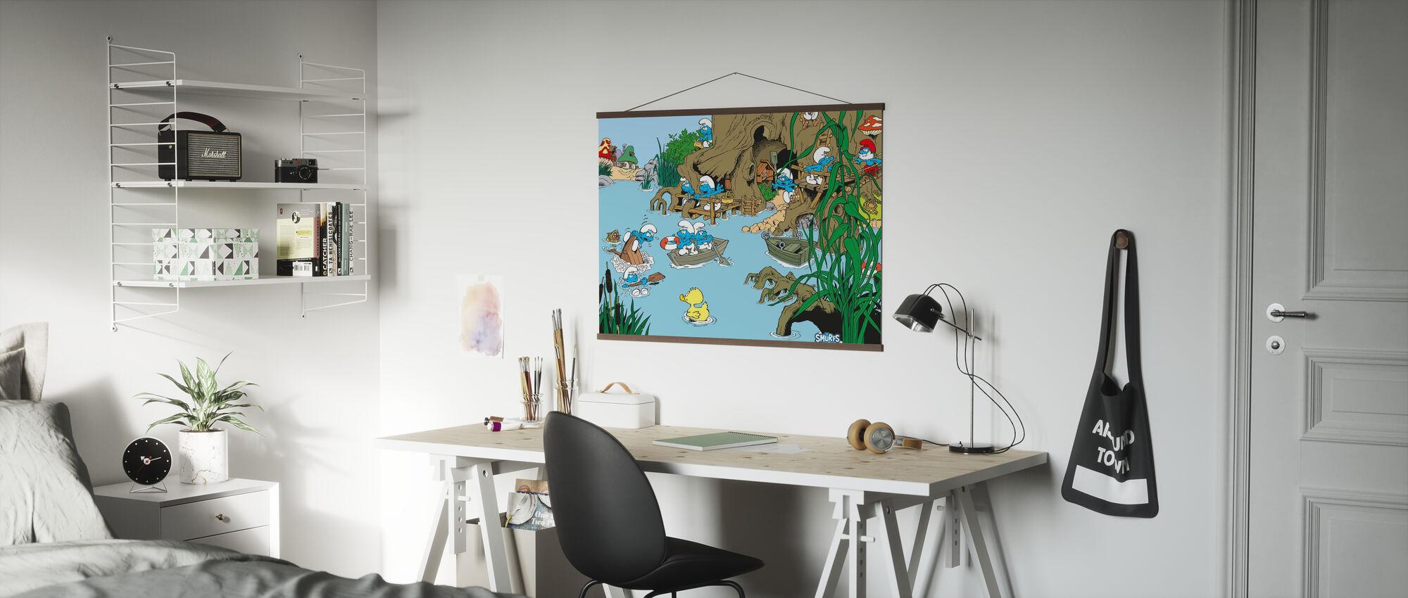 Smurfen - Zomer - Poster - Kantoor