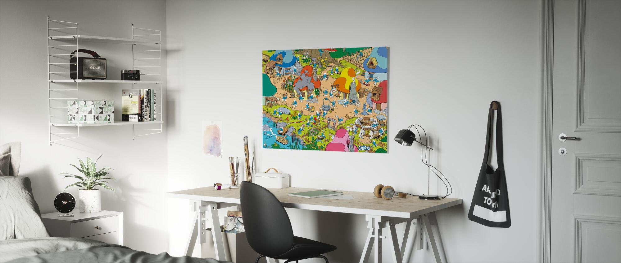 Smurfs - Village - Canvas print - Kids Room