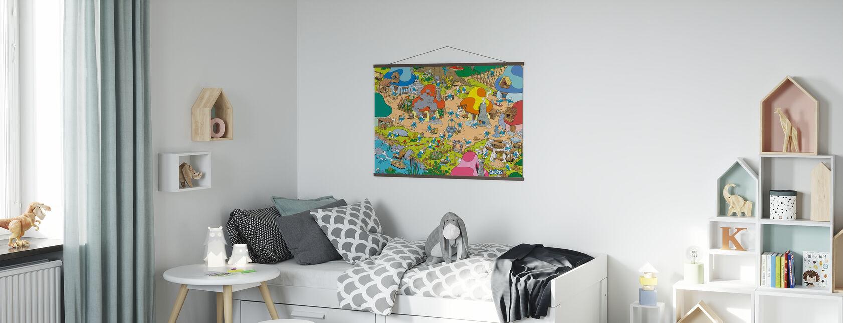 Smurfs - Village - Poster - Kids Room