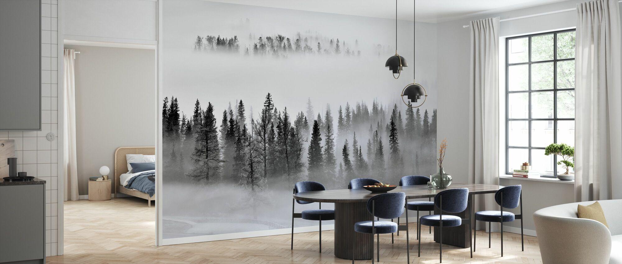 Foggy Forest - Wallpaper - Kitchen