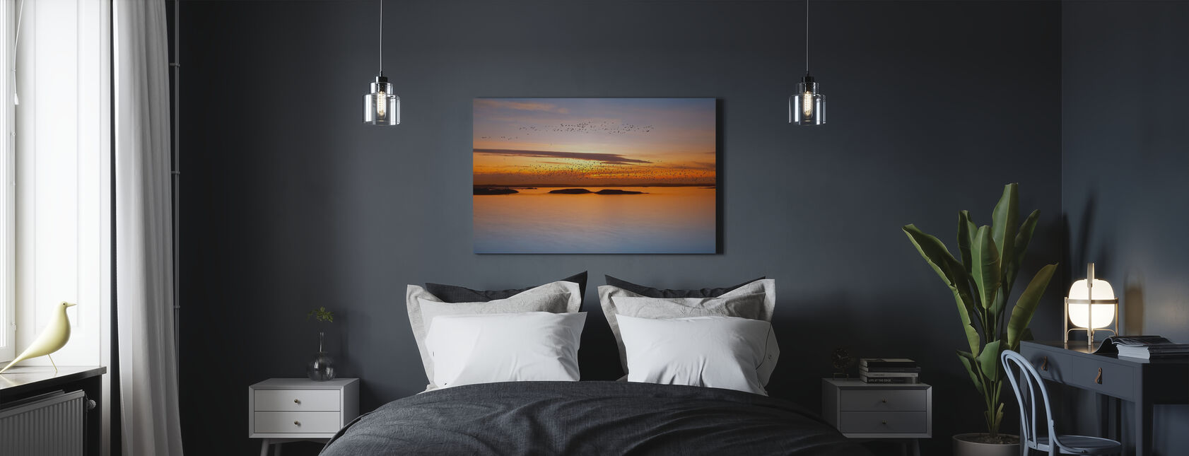 Sonnenuntergang - Leinwandbild - Schlafzimmer