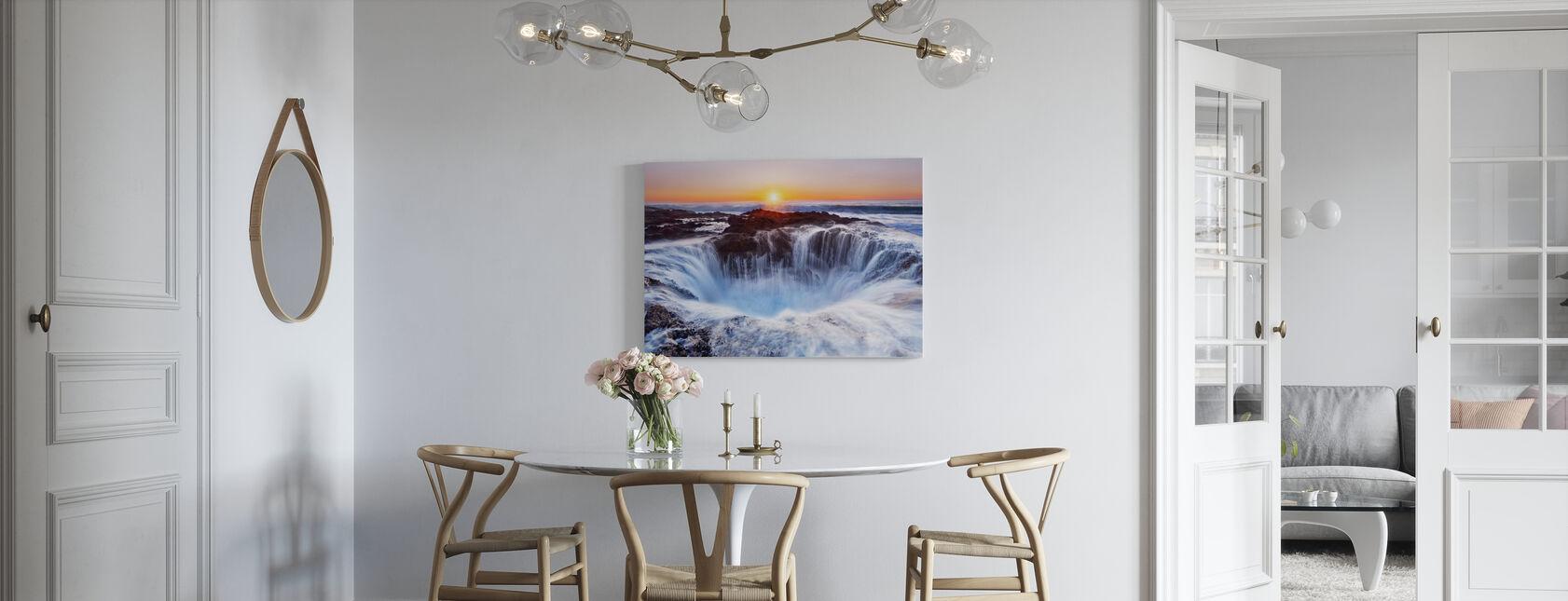 Oregon vandfald - Billede på lærred - Køkken