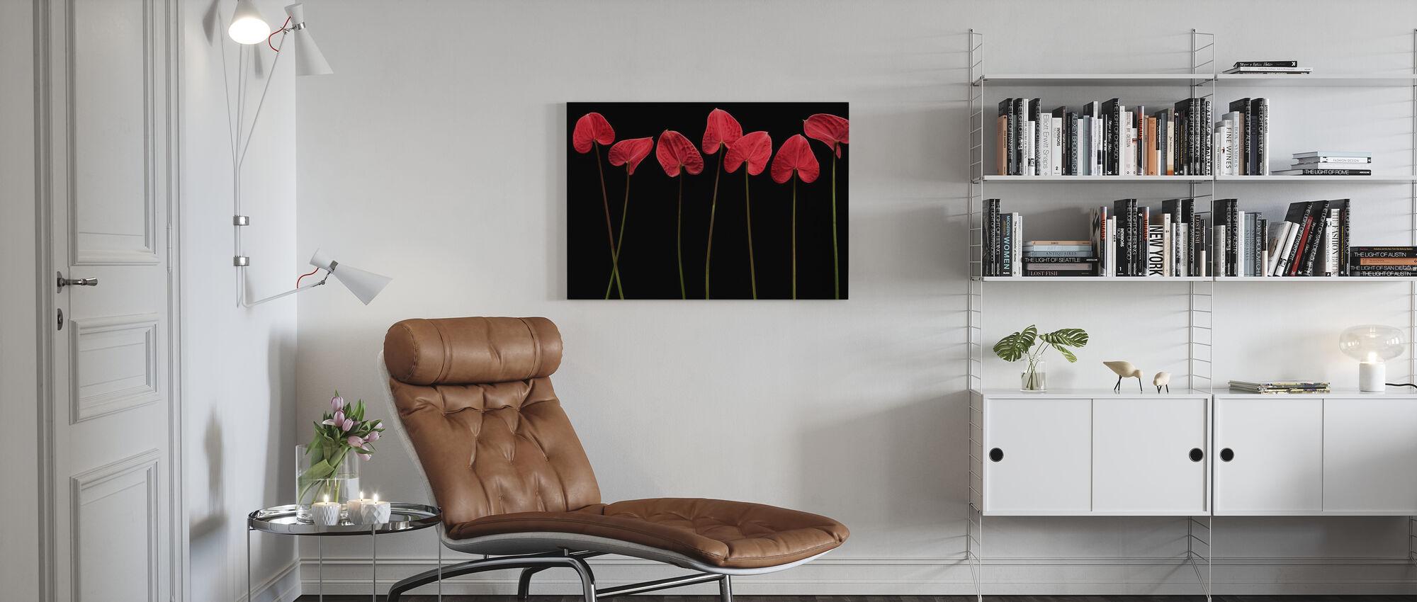 Botanical Hearts - Canvas print - Living Room