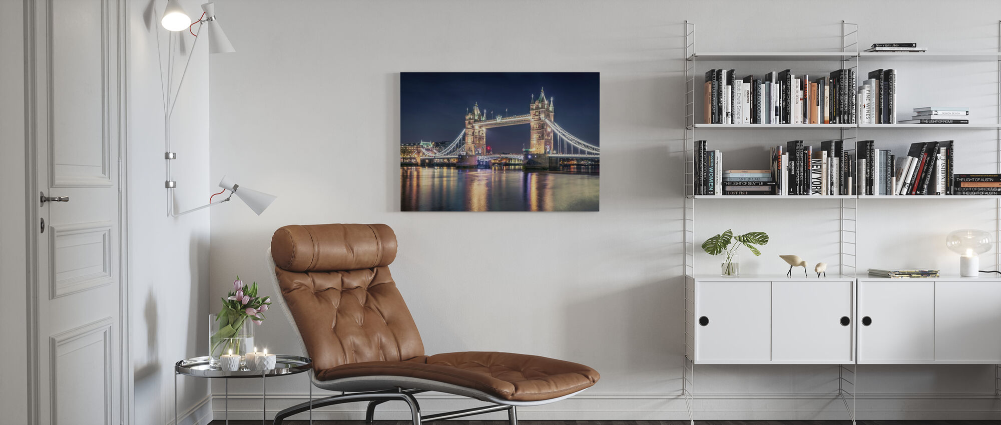 Night at the Tower Bridge - Canvas print - Living Room