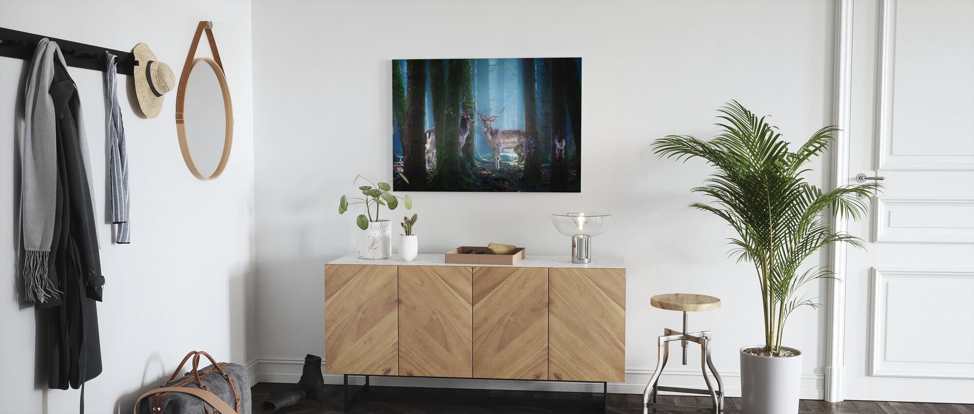 Deers - Canvas print - Hallway