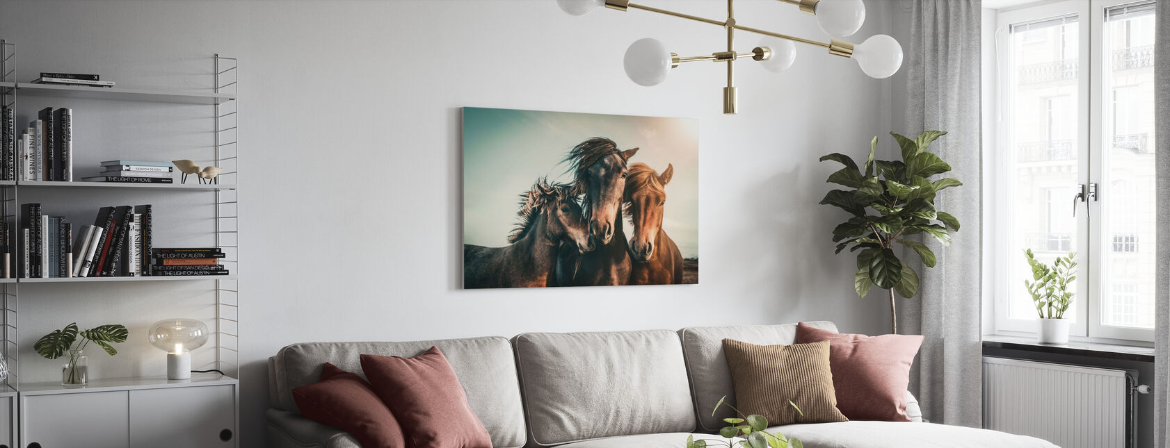 Ritratto di famiglia - Stampa su tela - Salotto
