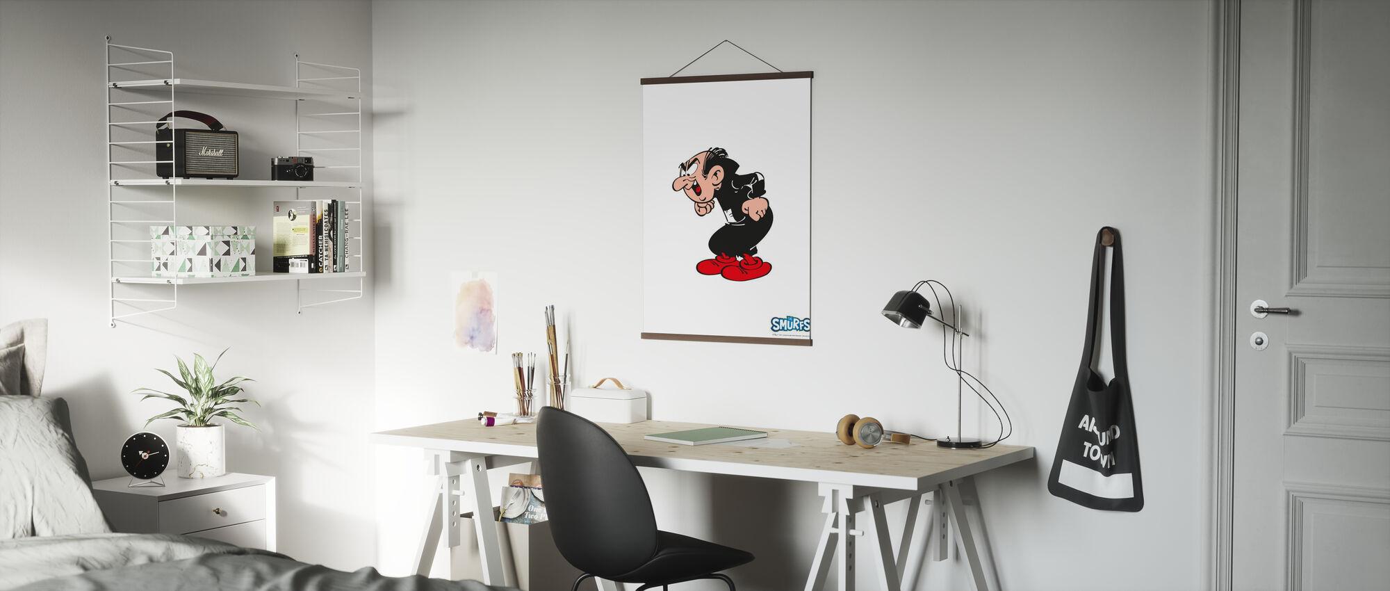 Smurfen - Gargamel - Poster - Kantoor