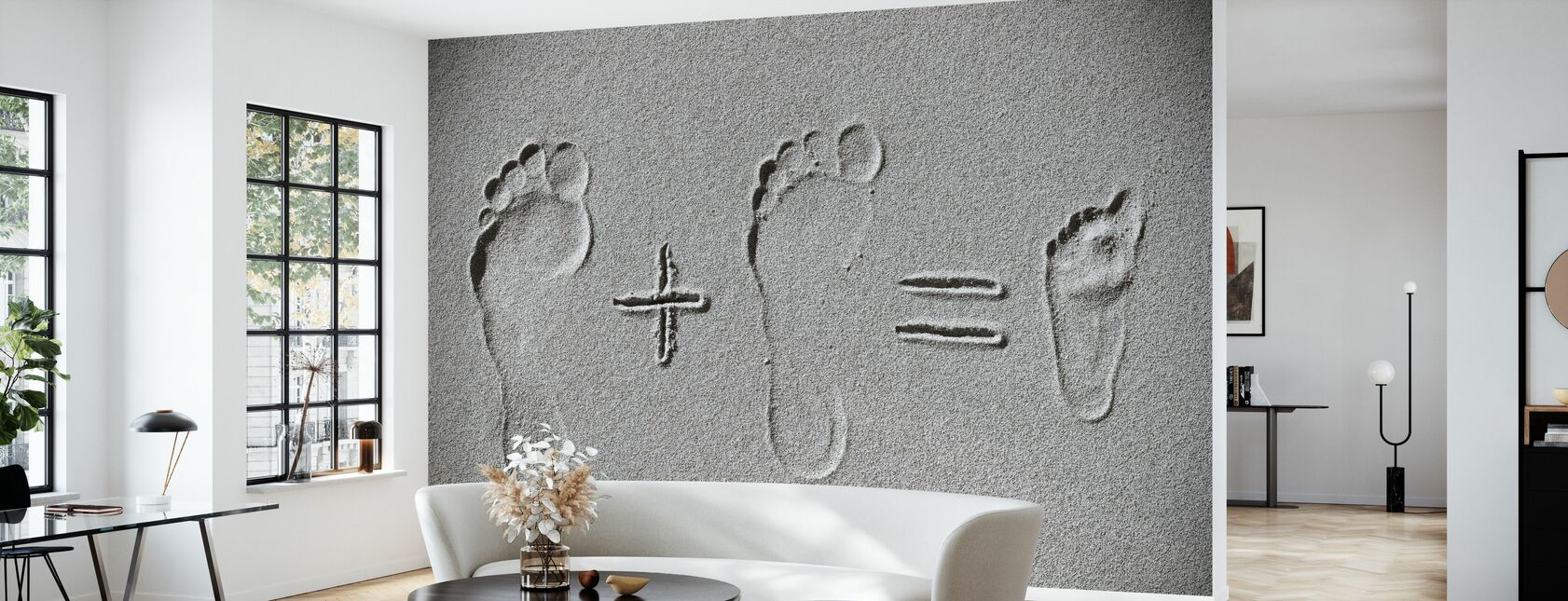 Sand Arithmetic - Wallpaper - Living Room