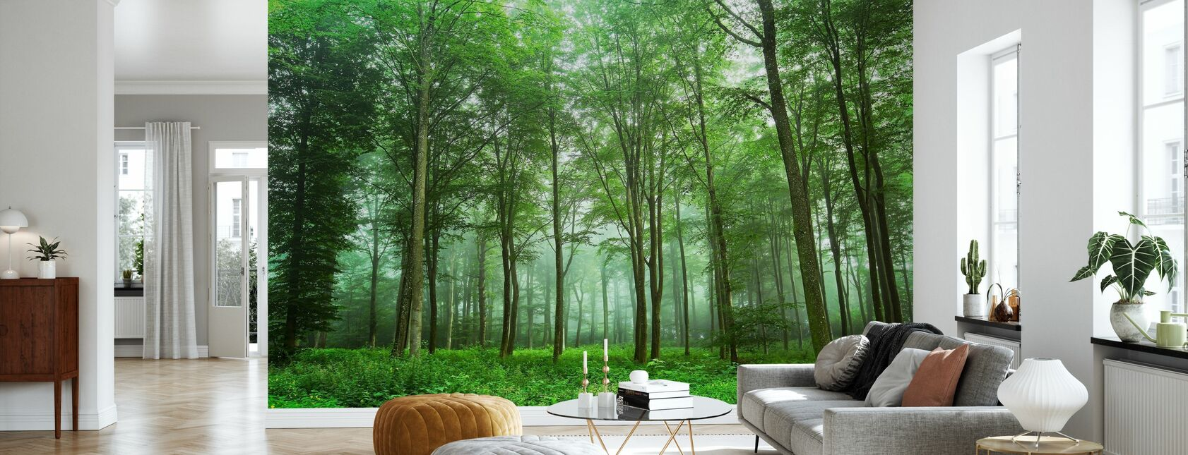 Forest View - Wallpaper - Living Room