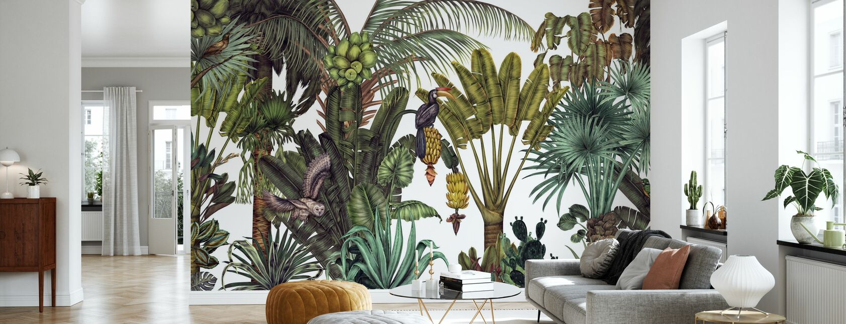Find the Birds in the Jungle - Wallpaper - Living Room