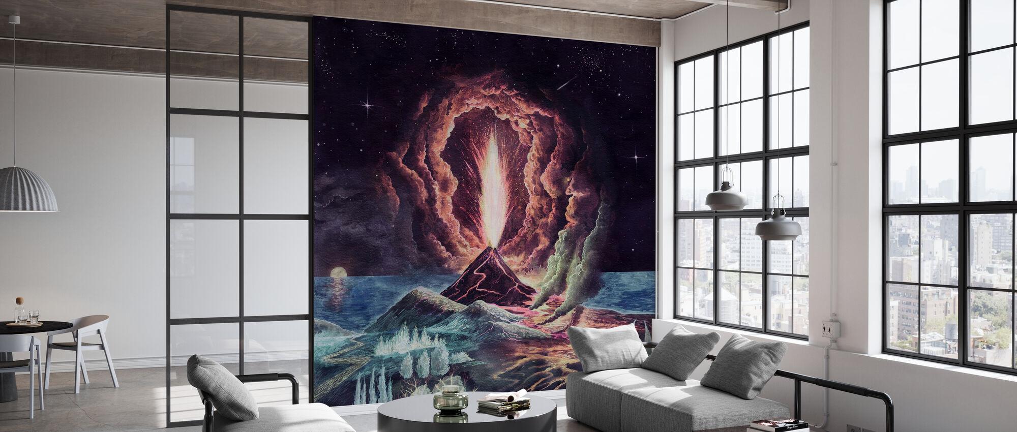 Volcano Eruption - Wallpaper - Office