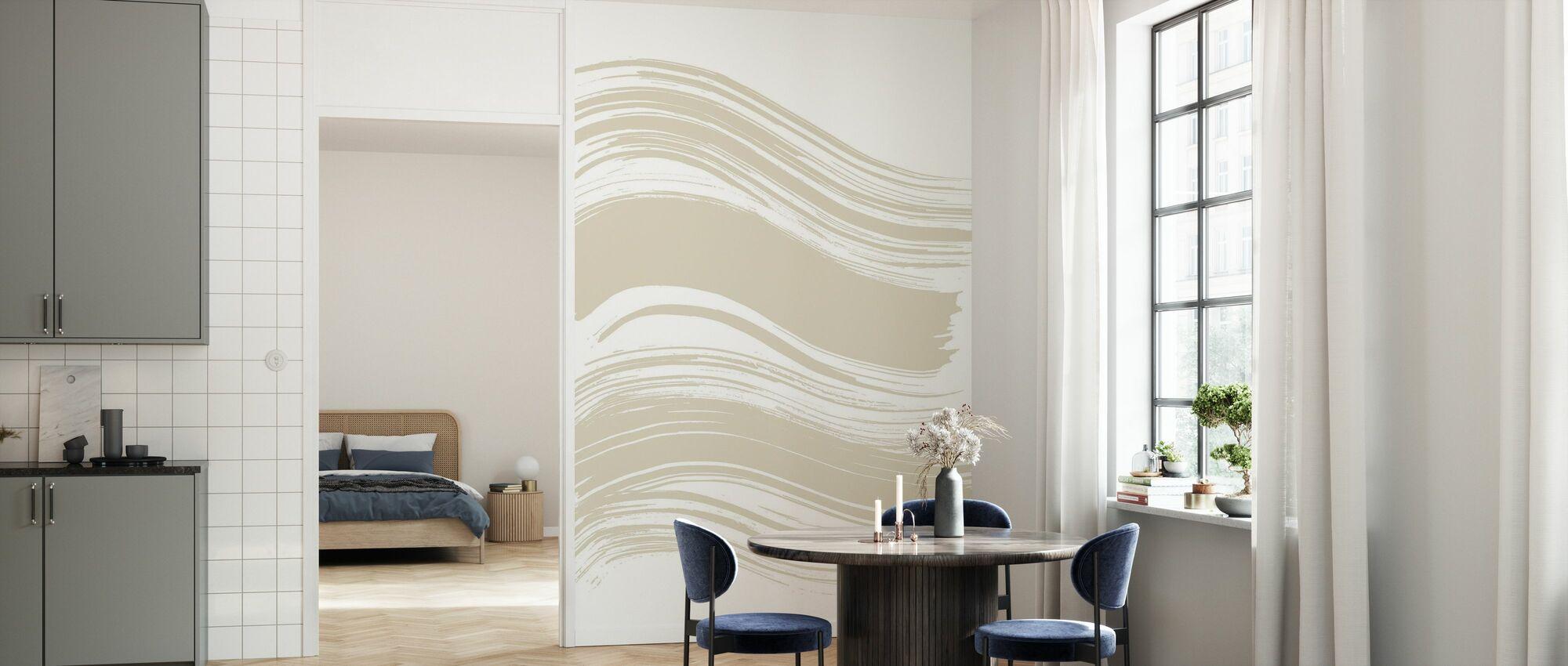 Wave - Bright Plage - Wallpaper - Kitchen