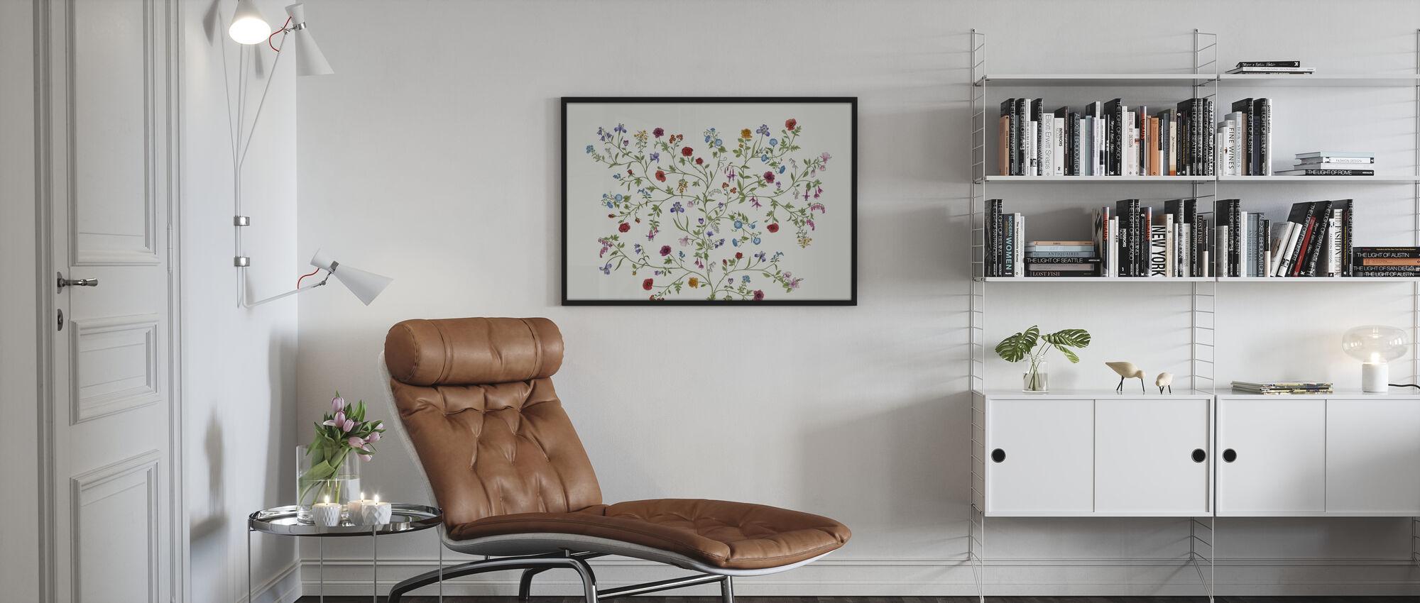 Flora - White - Poster - Living Room