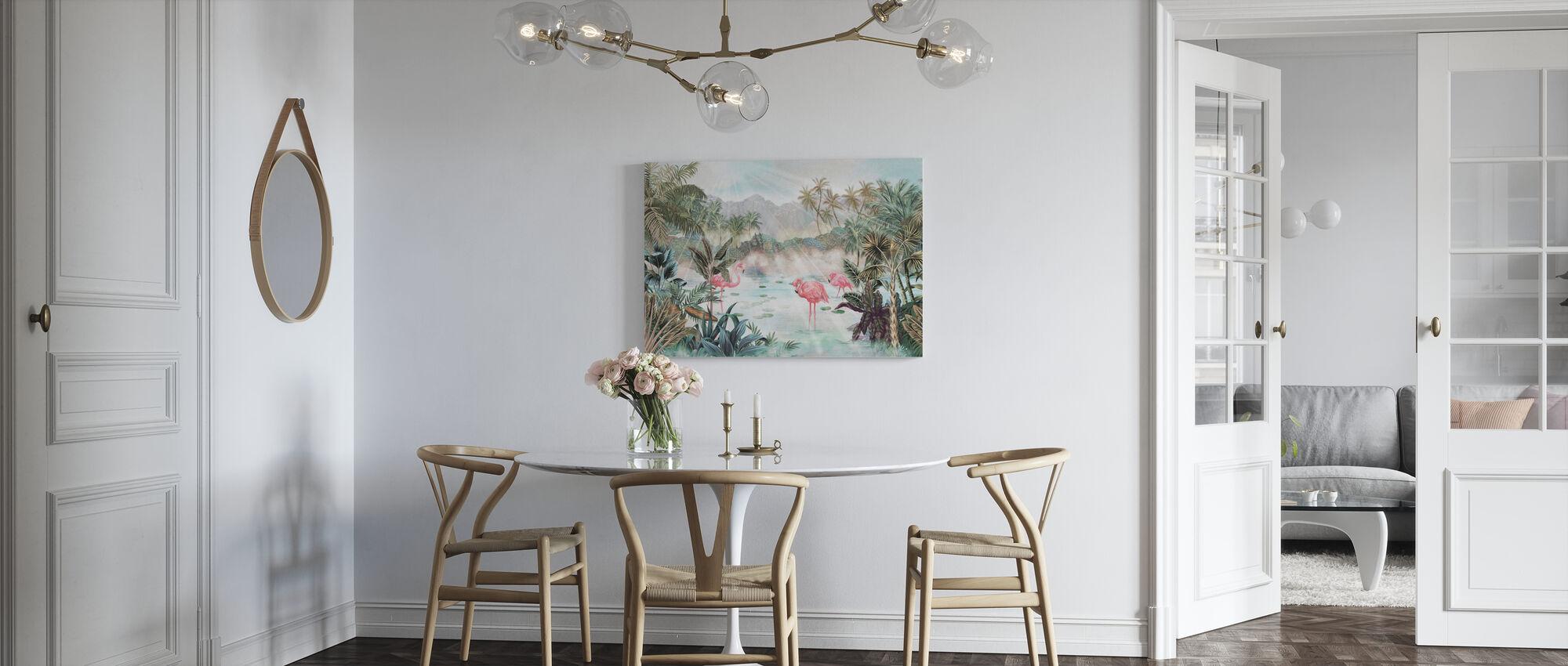 Flamingo Essay - Emerald - Lerretsbilde - Kjøkken