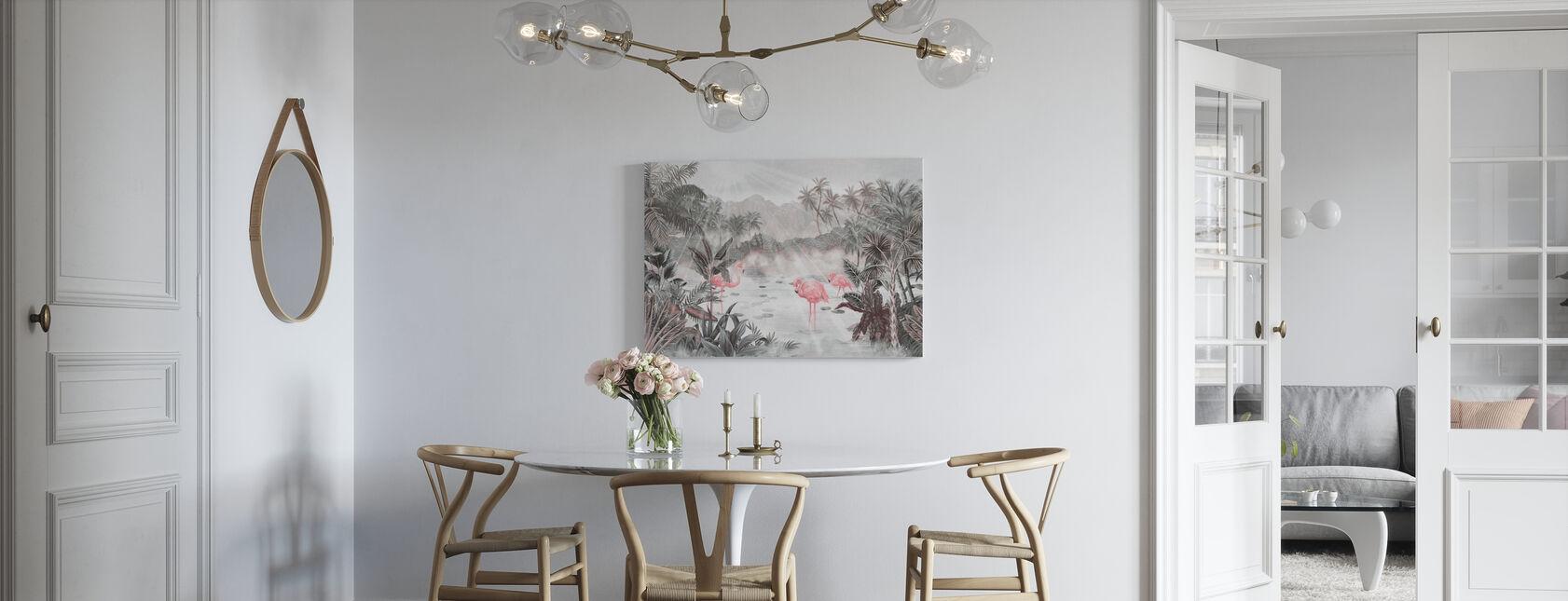 Flamingo essä - Pärla - Canvastavla - Kök