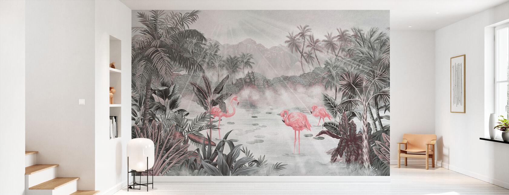 Flamingo Essay - Pearl - Wallpaper - Hallway
