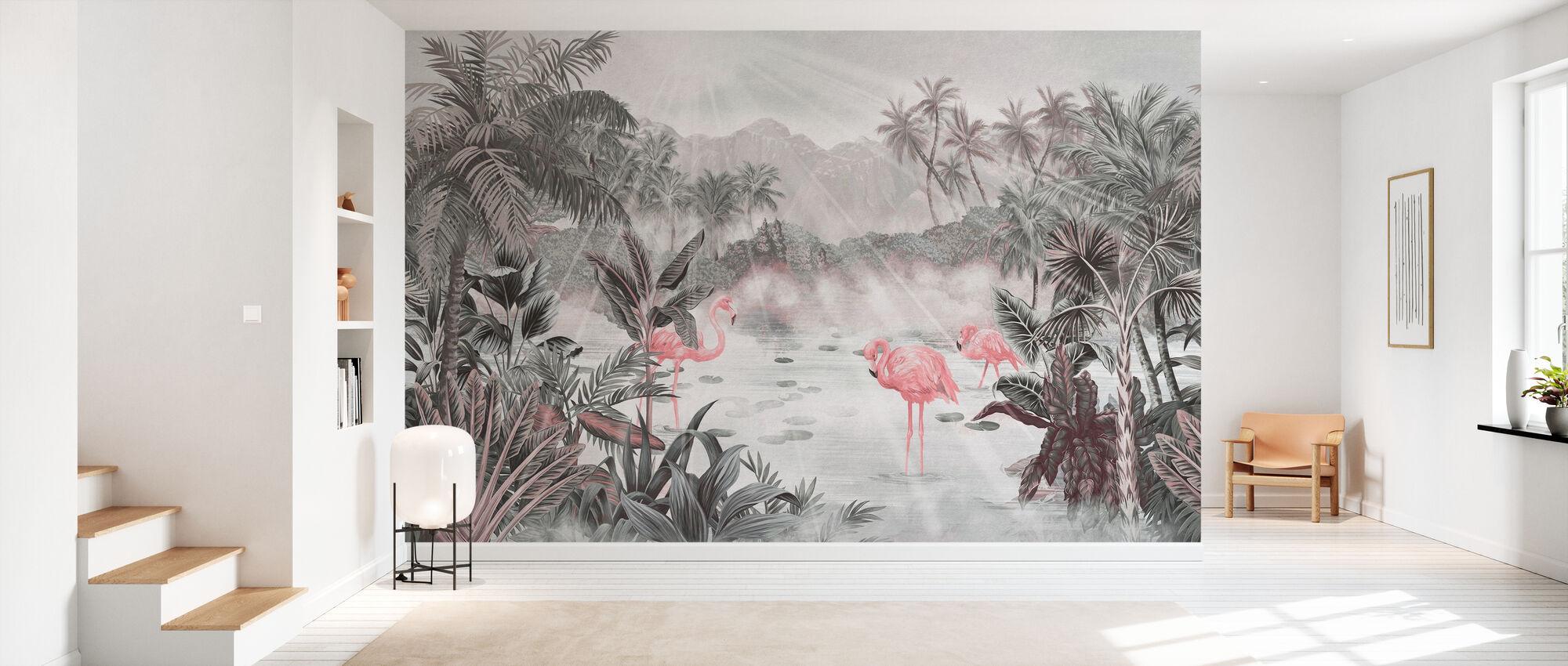 Flamingo Essay - Pearl - Tapet - Gang