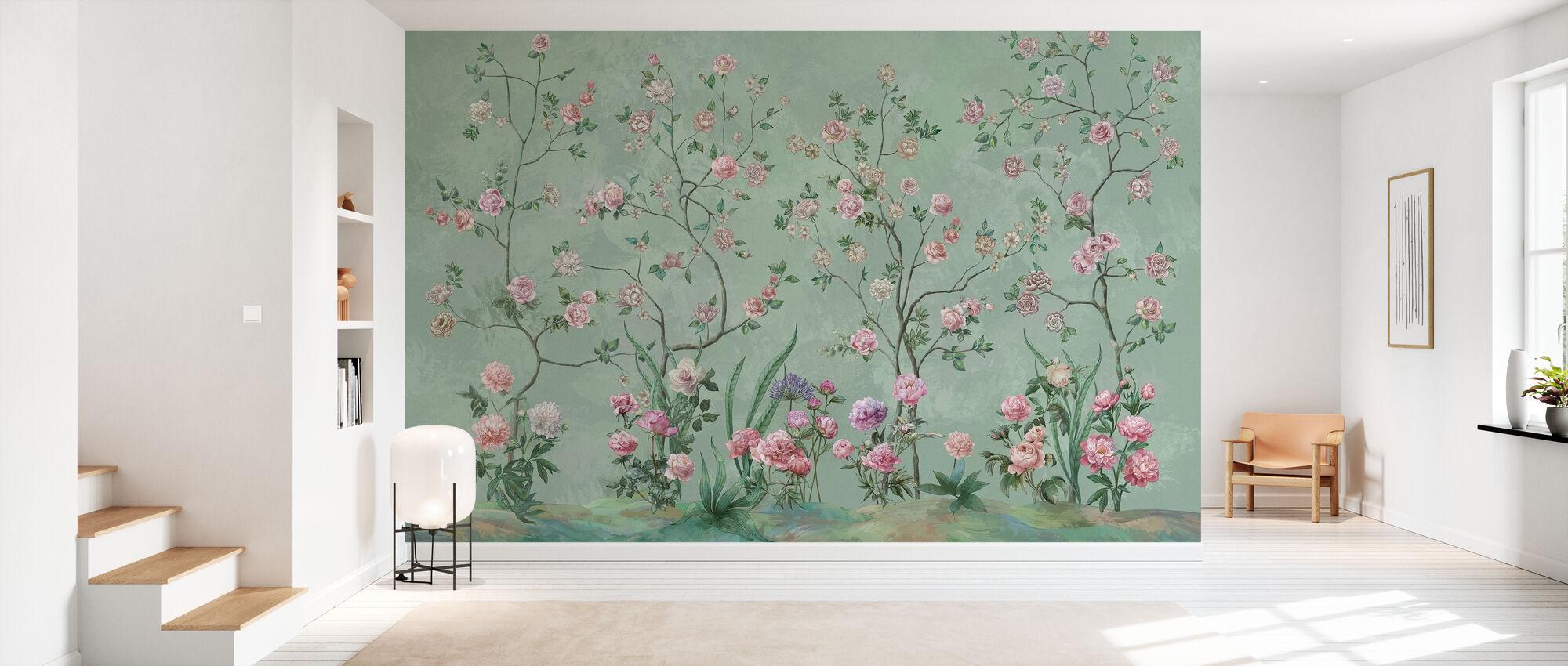 Flowers Patio - Wallpaper - Hallway